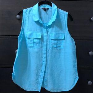 Sky Blue Banana Republic blouse
